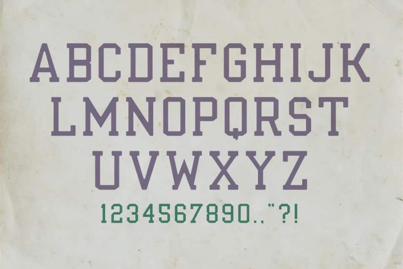 Indieground's Nuport Font 4