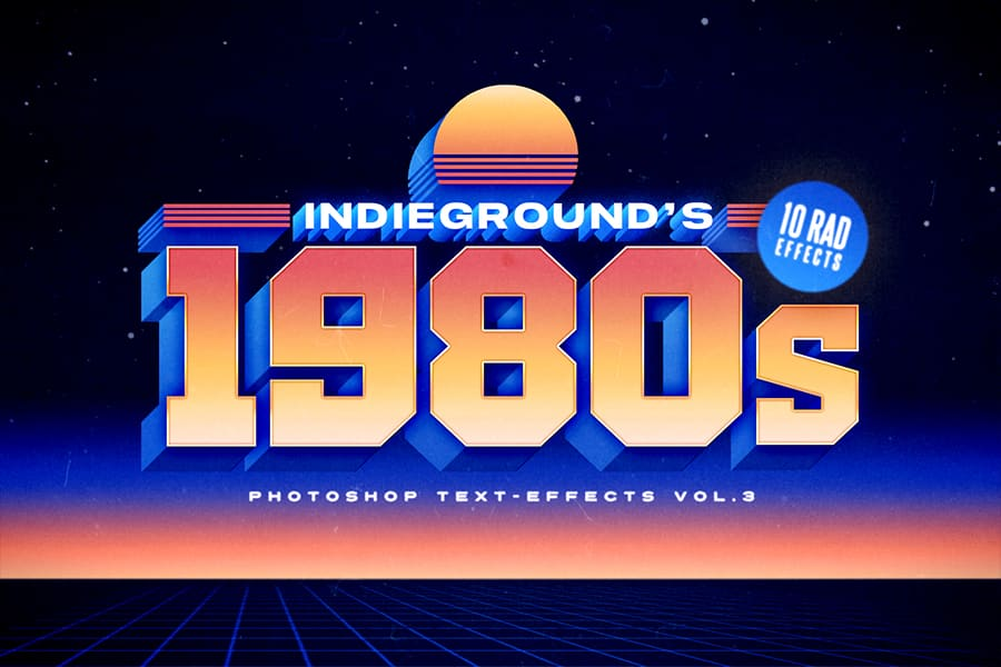 Indieground's 10 Tubular 80's Free Fonts You Need To Have 6